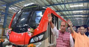 5 सितम्बर को  राजनाथ, योगी के साथ करेंगे लखनऊ मेट्रो का उद्घाटन