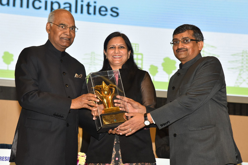 The President, Shri Ram Nath Kovind presenting the National Energy Conservation Awards, at the National Energy Conservation Day function, in New Delhi on December 14, 2017.