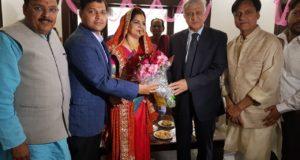 उत्तराखंड के राज्यपाल ने विधायक राजेश शुक्ला  के भतीजे  के वैवाहिक समारोह में पहुंचकर  वर-वधू को आशीर्वाद व शुभकामनाएं दी