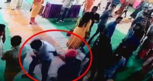 इलाहाबाद में  पूजा पंडाल में घुस कर युवक को गोलियों से उड़ाया ,की बमों की बौछार