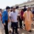 मुख्यमंत्री योगी  ने इलाहाबाद विकास प्राधिकरण की निर्माणाधीन सड़क तथा परिवहन निगम के   स्थायी बस स्टेशन का निरीक्षण