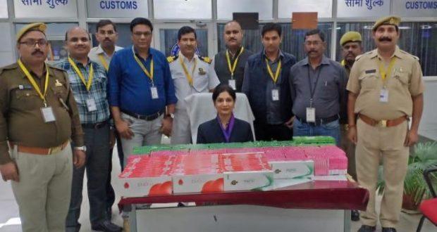 कस्टम ने  लखनऊ एयरपोर्ट पर पकड़ा डेढ़ करोड़ रुपए का सोना