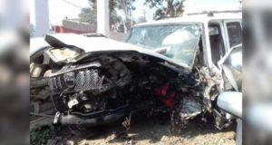 लखनऊ-फैजाबाद हाईवे पर भीषण सड़क हादसा, 4 लोगों की मौत